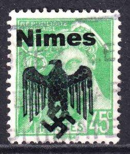 FRANCE 363 NIMES OVERPRINT USED VF SOUND
