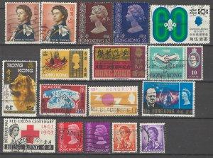 COLLECTION LOT # 4531 HONG KONG 17 STAMPS 1962+ CV+$22