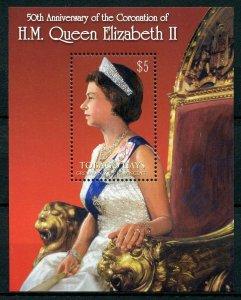 Tobago Cays Gren St Vincent 2003 MNH Queen Elizabeth II Coronation 1v S/S Stamps