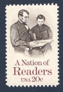 2106 A Nation Of Readers US Single Mint/nh (Free Shipping)