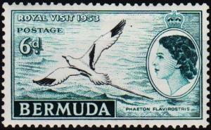 Bermuda. 1953 6d S.G.151 Mounted Mint