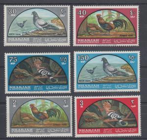 Sharjah Sc C28-C33 MNH. 1965 Birds cplt F-VF