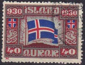 Iceland #161 F-VF Used CV $15.00 (Z8004)