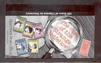 Guernsey Sc 576a-580b 1996 Movies stamp booklet mint NH