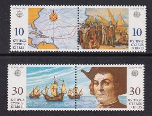 Cyprus     #798-801a  MNH  1992  Europa discovery of America in pairs