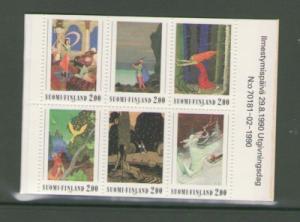 Finland Sc 825a 1990 Fairy Tales stamp bklt pane mint NH