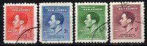 New Guinea #48-51  F-VF Used CV $7.90  (X1093)