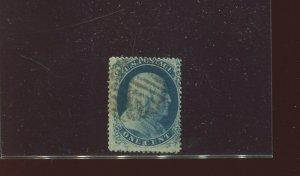 Scott 20 Franklin Used Stamp Plate 4 Pos. 6L4 w/Doporto Cert (Stock 20-D13)