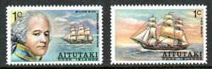 Aitutaki 1974 Captain William Bligh and HMS Bounty