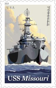 #5392 2019 USS Missouri - MNH