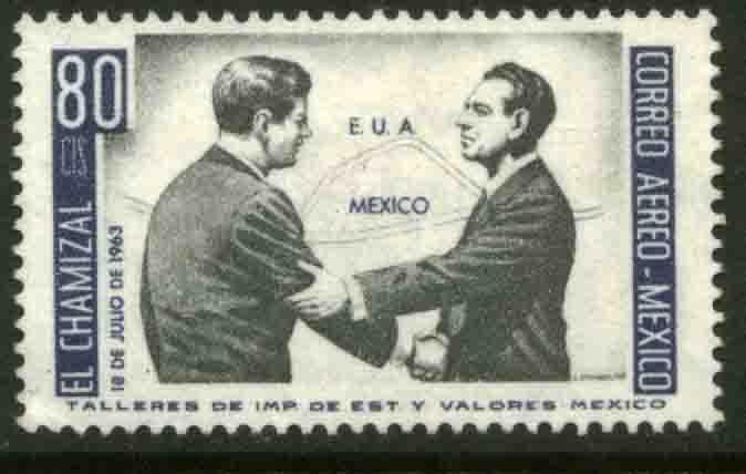 MEXICO C282 US-Mex Chamizal Treaty J.F.K.-Lopez Mateos MH OG