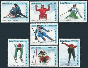 Guinea Bissau 704-710,710A,MNH.Olympics,Calgary-1988.Pairs figure skating,Luge,