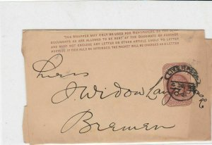 victorian 1890s liverpool cancel stamped postal wrapper ref 21332