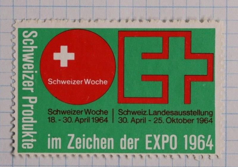 Switzerland Swiss sign products industry 1964 expo  show ad Poster Stamp DL