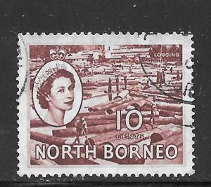 North Borneo #267 Used Single