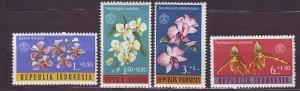J22785 JLstamps 1962 indonesia set mnh #b146-9 flowers