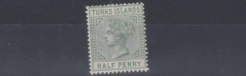 TURKS & CAICOS  1885     S G 53A   1/2D   PALE GREEN     MH