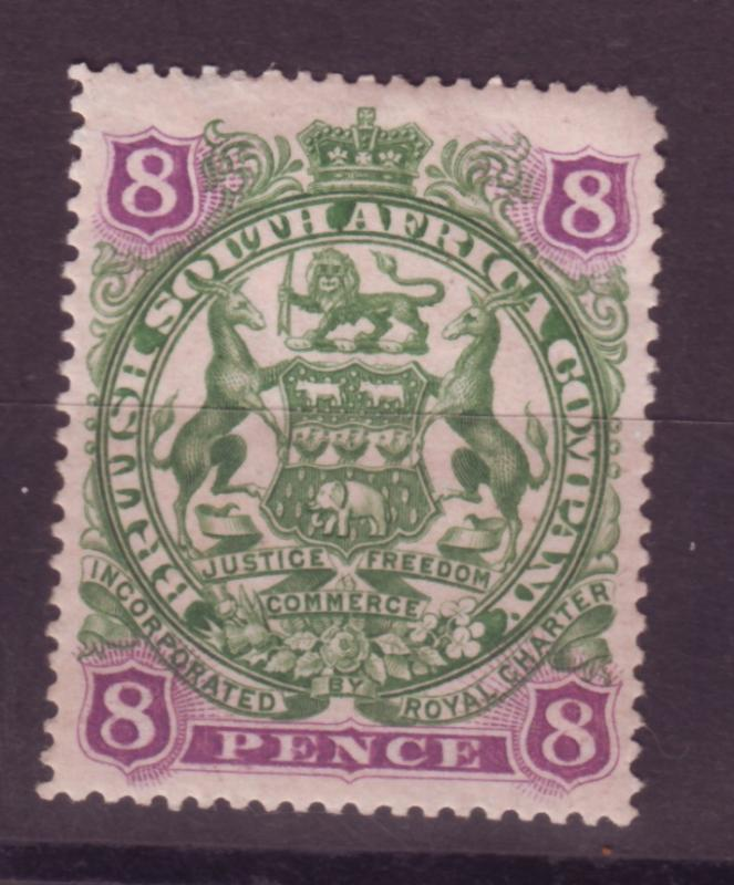 J17062 JLstamps 1897 rhodesia mhr #54 coat of arms