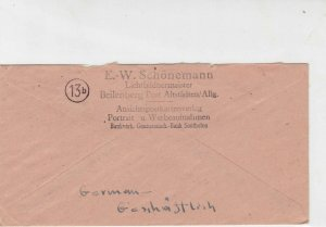 germany 1946 allied occupation stamps cover ref 18666