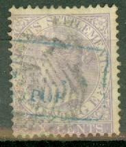Straits Settlements 12 used thin CV $22.50