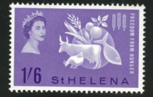Saint Helena Scott 173 MH* 1963 Freedom from Hunger stamp
