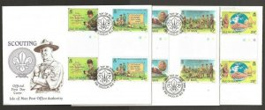 1982 Isle of Man gutter pairs Boy Scouts 75th anniversary FDC
