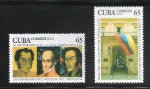 CUBA Sc# 5426-5427  SIMON BOLIVAR  Cpl set of 2 stamps 2013  mint MNH