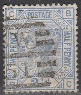 Great Britain #82 Plate 22 F-VF Used CV $40.00  (A2991)