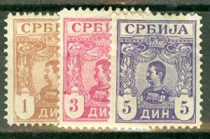 BD: Serbia 59-67 mint, 59, 64, and 67 thins CV $48.10; scan shows only a few