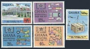 Ghana 410-414,MNH.Michel 423-427. International Trade Fair,1971.Transport,flags.