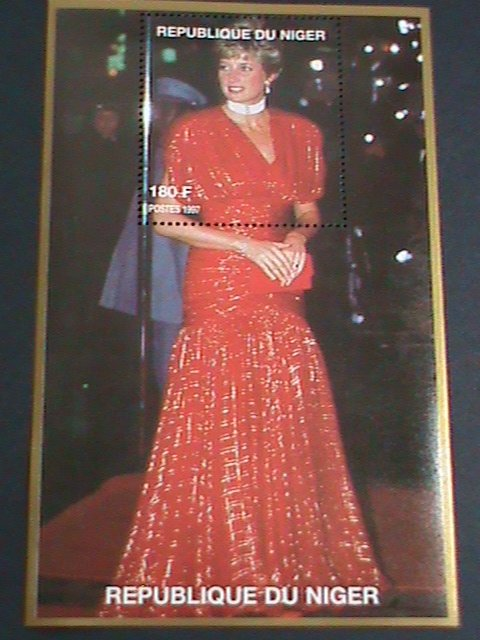 NIGER STAMP 1997 PRINCESS OF WALES-LADY DIANA-REMEMBER ALWAYS-MNH S/S  EST, $4