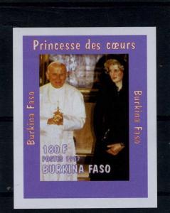 Burkina-Faso 1997 Princess Diana & Pope John Paul II Deluxe s/s Mint (NH) VF
