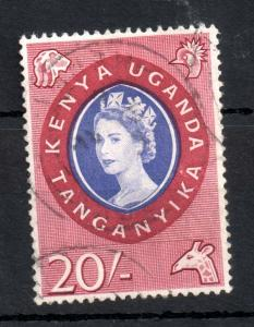 Kenya Uganda Tanganyika 1960 20/- very good used #198 WS13168