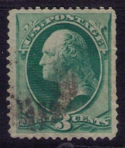 US SCOTT #184 USED Soft Porous Paper 3c F-VF