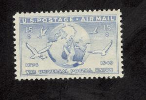 C43 Globe & Doves US Single Mint/nh (Free shipping offer)
