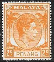 Malaya - Penang 4 Unused/Hinged - George VI