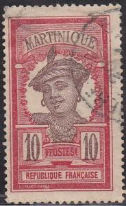 Martinique 67 Hinged Used 1922 Martinique Woman