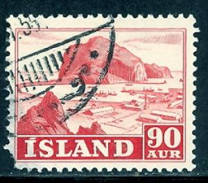 Iceland 263 used SCV $ 0.40 (RS)