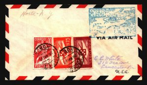 Portugal 1939 FFC Horta to NY - L3008