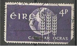 IRELAND, 1963, used 4p, FAO Scott 186 damage