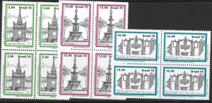 BRAZIL SG1788/90 1979 BRASILIANA 79 (4th ISSUE) BLOCKS OF 4 MNH