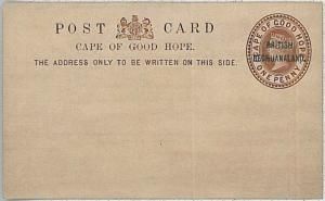 BRITISH BECHUANALAND  -  POSTAL STATIONERY : Higgingd & Gage #1 c
