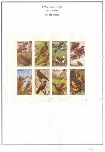 SCOTLAND - EYNHALLOW - 1977 - Birds - Imperf 8v Sheet - MLH