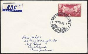 NEW ZEALAND ROSS DEPENDENCY 1963 cover VICE REGAL VISIT cds.................4207