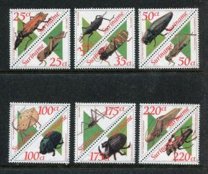Surinam 942a-953a, MNH, Insects  Beetles 2001. x28285