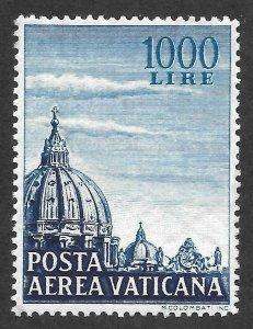 Doyle's_Stamps: XF+ Vatican City Jumbo Airmail Scott #C23* 1953 1,000 Lire Issue