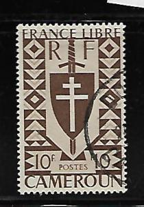CAMEROUN 294 USED, LORRAINE CROSS ISSUE 1941