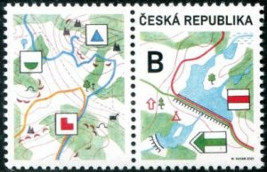 2021 Czech Republic Tourism - Map w/label (Scott NA) MNH