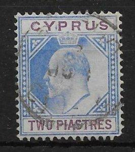 CYPRUS SG53 1903 2pi BLUE & PURPLE USED