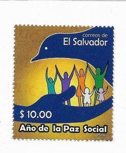 EL SALVADOR 2007 SOCIAL PEACE YEAR, EMBLEM PIGEON 1 VALUE COMPLETE